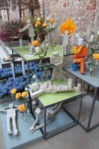 Blumen und Kunst in der BUGA-Blumenkirche St. Johannis in Brandenburg