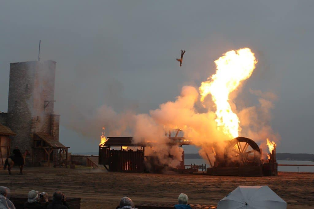 Pyrotechnik in Aktion
