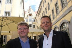 Torsten Bonew (r.) und Andreas Schmidt in Barthels Hof