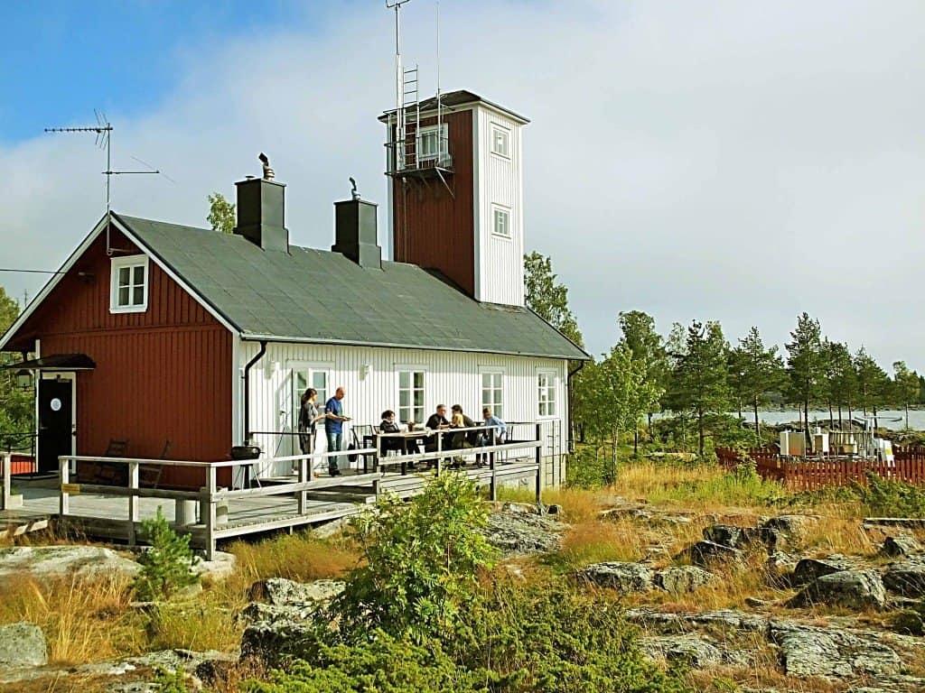 Früher Lotshuset (Lotsenhaus) - heute kleine, aber feine Jugendherberge am Meer