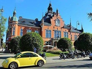 Das 1890 fertig gestellte Alte Rathaus im Zentrum von Umeå.