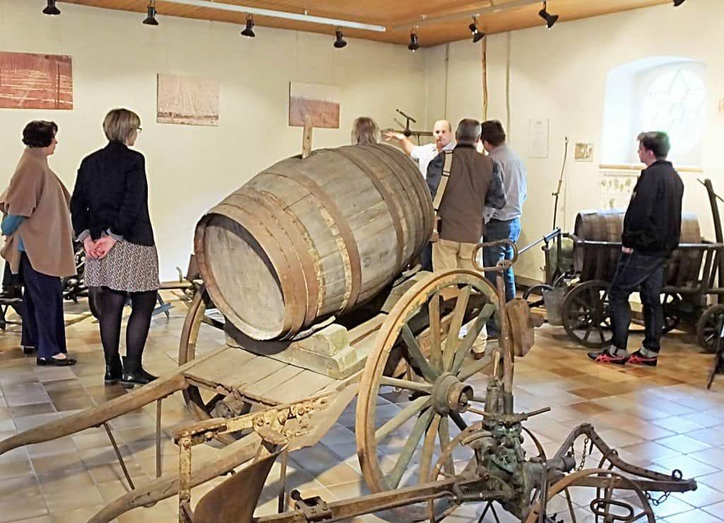 Die informativen Führungen im Weinbaumuseum von Ehnen sind stets gut besucht - sowohl von Einzeltouristen als auch von Reisegruppen