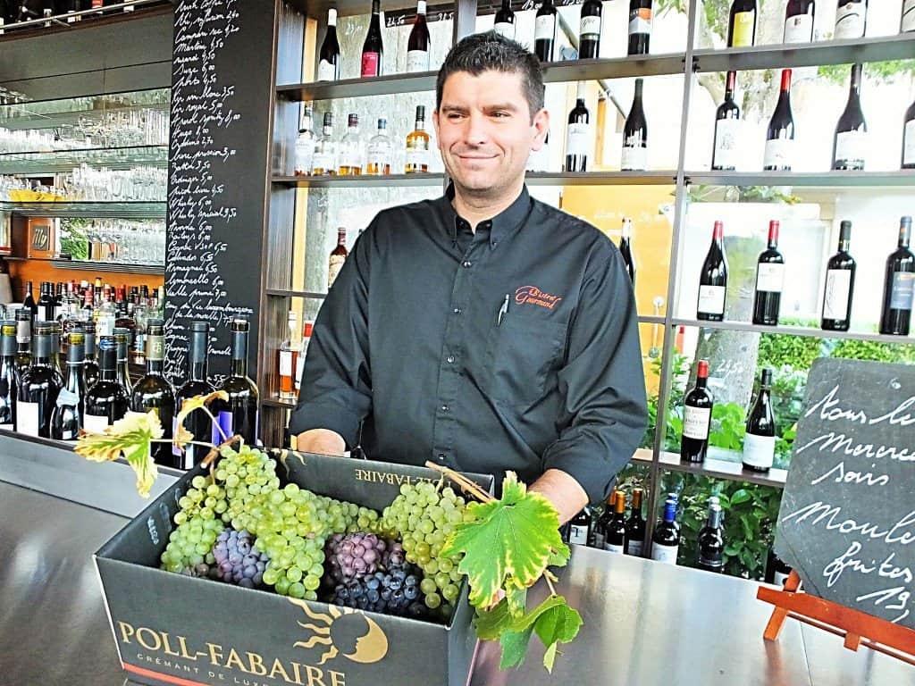 """Der profunde Weinkenner Donati Nicolas vom Restaurant """"Le Bistro Gourmand"""" in Remerschen"""