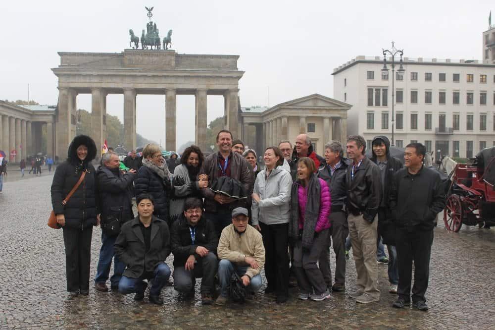 Besuch am Brandenburger Tor in Berlin