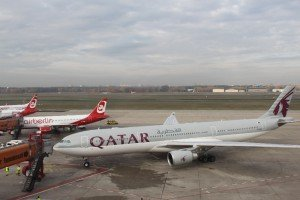 Qatar Airways A 330 in Berlin-Tegel