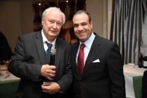 SE Dr. Badr Abdelatty (r.), Botschafter der Arabischen Republik Ägypten mit Hans-Peter Gaul