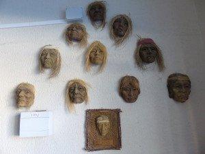 Gesichtsmasken der Ureinwohner