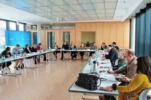 Die gut besuchte Pressekonferenz in der Thüringischen Landesvertretung beim Bund in der Berliner Mohrenstraße.