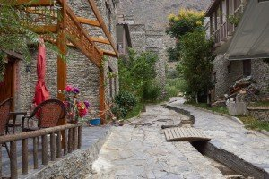 Kopie des alten Dorfkerns für die Touristen