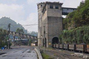 Kohlewaggons zum Abtransport in Shixi