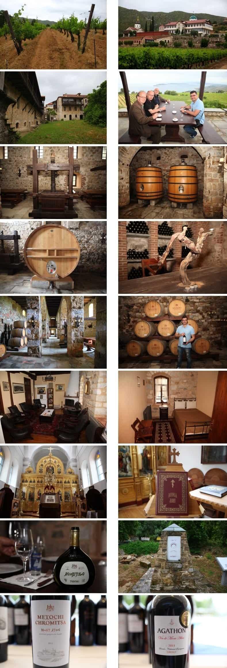 Weinproduktion Mount Athos Foto: Matthias Dikert