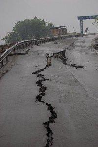 Spuren des schweren Erdbebens von 2008