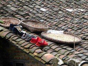 Nur noch die Schuhe sind geblieben