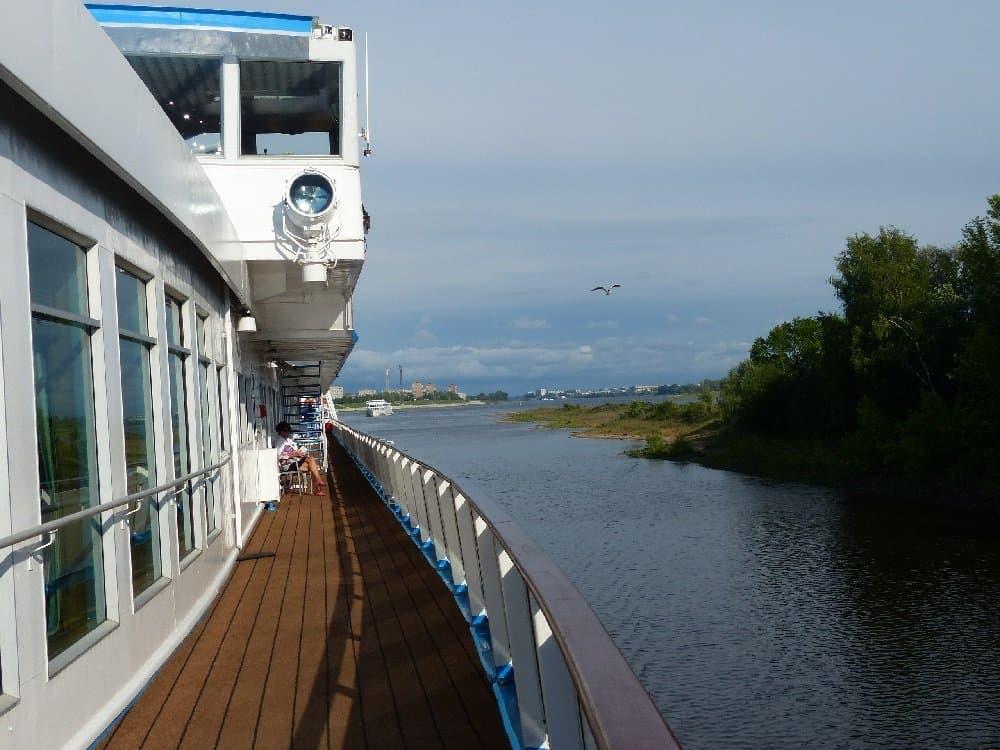 """An Bord der """"Andrej Rublew"""""""