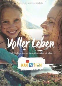 "Titel der aktuellen, reich bebilderten Infobroschüre ""Kroatien voller Leben"""