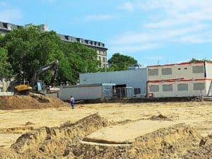 In dieser Ecke des ZOB sind bereits die Bauarbeiten zur Modernisierung im Gange