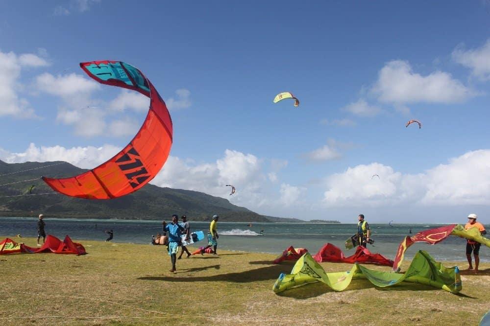 Kitesurfer am RIU Creole