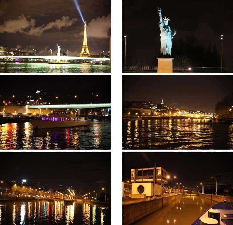 Paris im abendlichen Lichterglanz