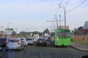 Feierabendverkehr in Kasan: O-Busse zahlreich unterwegs