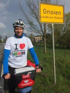 Start in der Kleinstadt Gnoien/Mecklenburg-Vorpommern