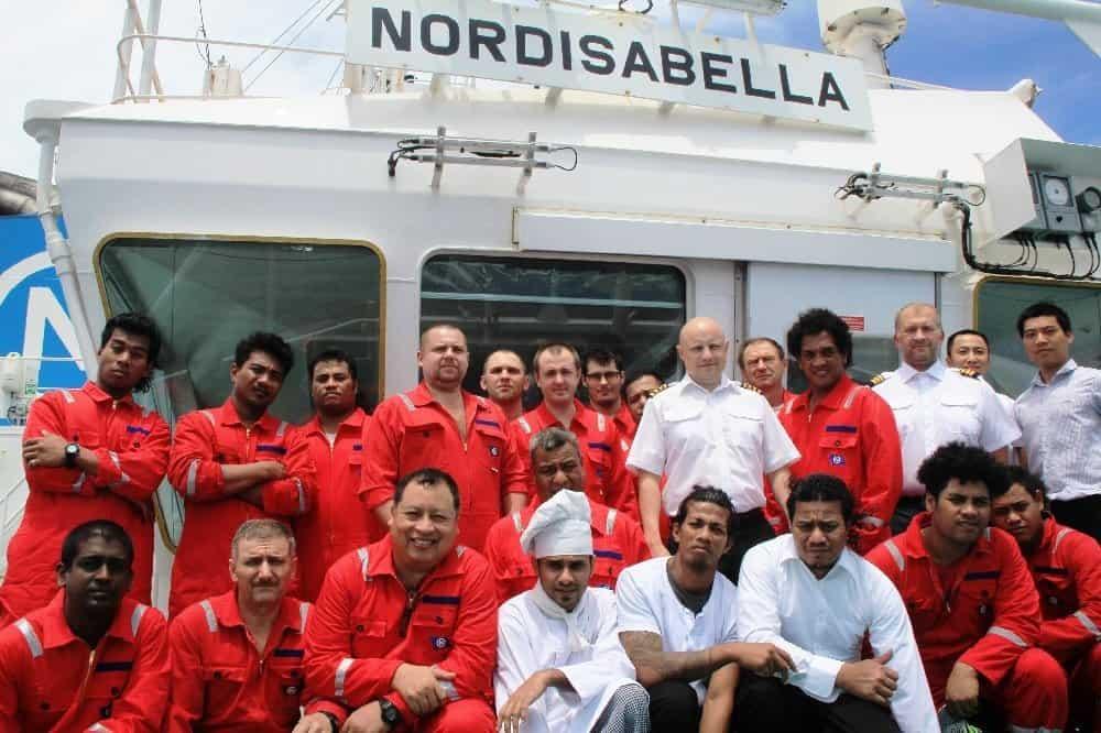 Die Crew von MS NORDISABELLA