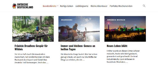 DEUTSCHLAND-URLAUB UND TOURISTIK-TALK IM INTERNET