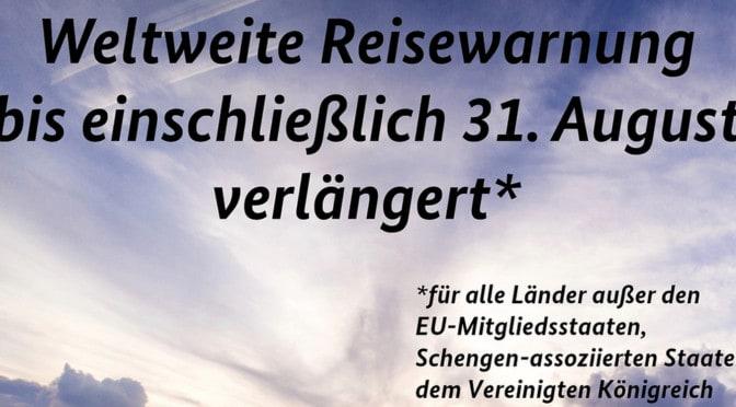 REISEWARNUNG FÜR 160 LÄNDER VERLÄNGERT